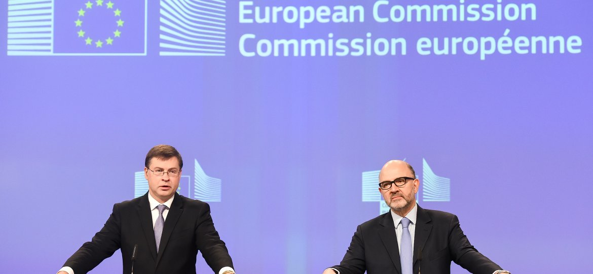 Press conference by Valdis Dombrovskis and Pierre Moscovici