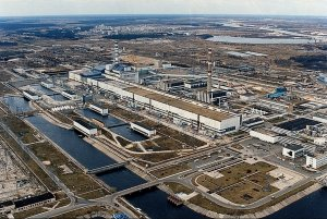 La centrale di Chernobyl prima dell'incidente.
